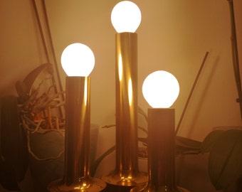 1960 1970 Design Gaetano Sciolari table lamp,mid century,retro Italy. Brass.