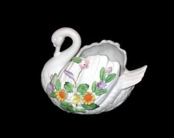 Vintage Lefton, Swan Figurine, Vase, Vintage Lefton, Swan Vase, Home Decor, Collectibles, Swan Vase, Collector Swan, Swan Decor, Vintage