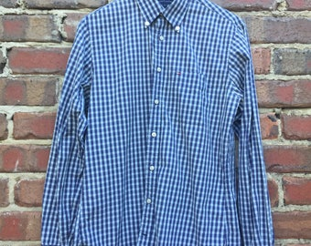 Tommy Hilfiger Check Long Sleeve Shirt Blue, Green, White Check Size Small