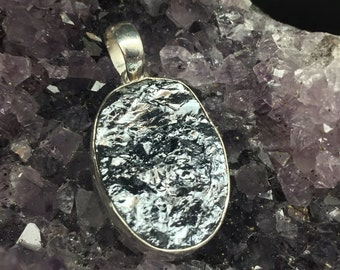 Pyrite Silver Pendant // 925 Sterling Silver // Oval Setting