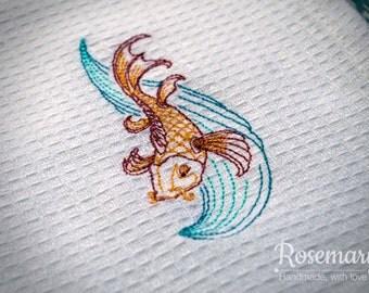 Far East Koi Carp Tea Towel.