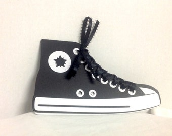 High top Running Shoe Invitation , Kids , Teens , Adults , Party , Birthday , Events , Personalize , Non-Personalize  , Boys , Girls