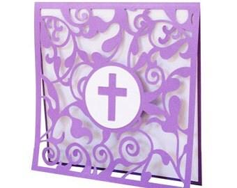 Cross Card , Believe , PaperCut , God , Faith , Church Friends , Family , Confirmation , Communion , Easter , Kids