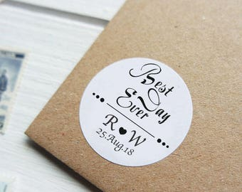 SIiver Foil Personalized Wedding Candy wrappers/ stickers for Favors / envelope seals #N