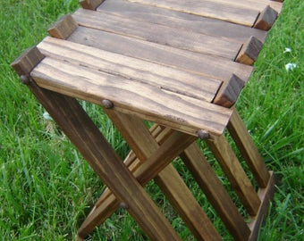 Medieval Wood Folding Table