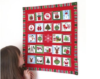 Wall hanging Advent Calendar - Scandinavian Christmas - Countdown to Christmas calendar - Christmas decorations - gift advent calendar