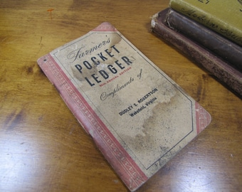 Farmer's Pocket Ledger - Compliments of Dudley S. Robertson of Wakefield, Virginia - 1952/1953