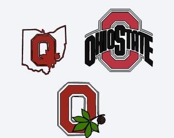 SVG, ohio state, buckeye, football, buckeye nut, college football, cut file, printable file,  cricut, silhouette, instant download