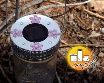 Mason Jar Lantern * Solar Lantern * Mother's Day Gift Lantern * Solar Yard Lighting