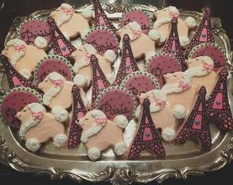 Paris Theme Cookies - ONE Dozen