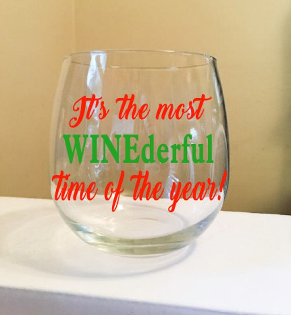 It's The Most WINEderful Time of the Year Stemless Wine Glass