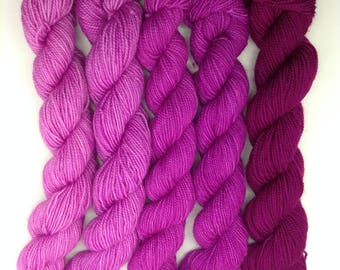 Blooms Eternal Gradient Set - Hand dyed fingering weight yarn - Bootheel (665 yards)