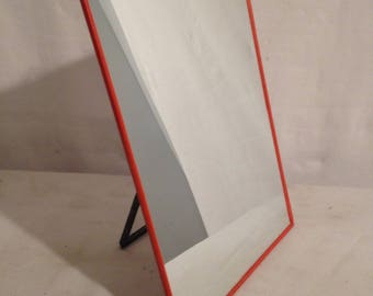 Old ice Barber red mirror + tripod black Vintage