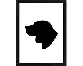 Beagle Dog Silhouette PRINT