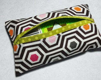 Tissue Holder, Fabric Tissue Holder, Travel Tissue Cover, Pocket Tissue Holder, Travel Tissue Case, Gift Under 10