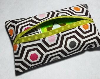 Tissue Holder, Fabric Tissue Holder, Travel Tissue Cover, Pocket Tissue Holder, Travel Tissue Case, Gift Under 10