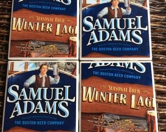 Sam Adams Winter Lager Beer Coasters