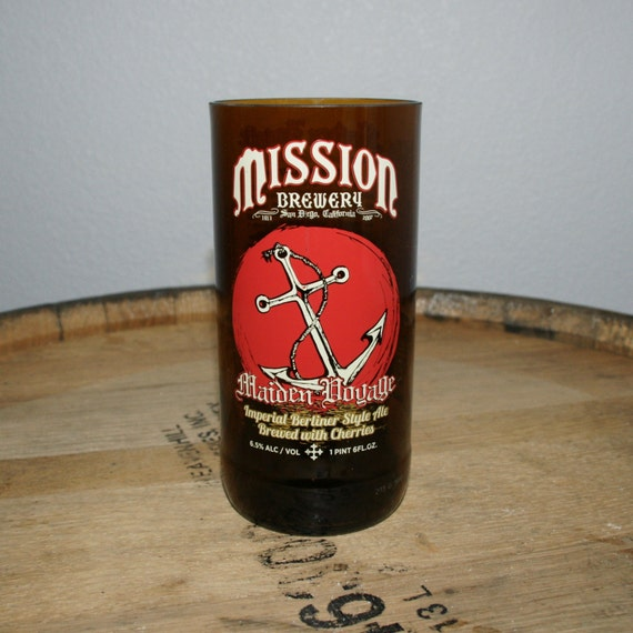 UPcycled Pint Glass - Mission Brewery - Maiden Voyage