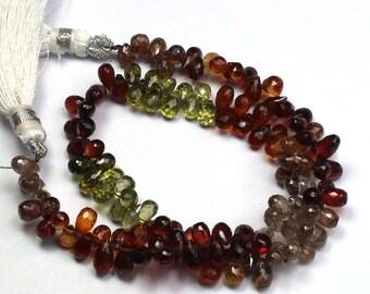 20% off Semi precious Multi Color Tear Drops Beads, AAA Turnda Sappire Drops beads , 10 inch strand 80 beads aprxx