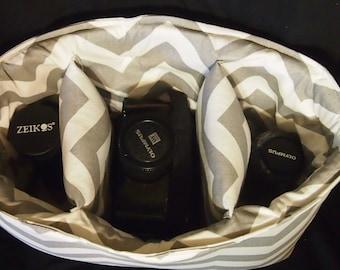 Camera bag insert  \ Turn your purse into a Camera Bag \ Water resistant \ Camera case \ Canon Nikon Sony \ Dslr camera bag \ Camera purse
