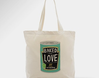 Baked love tote bag