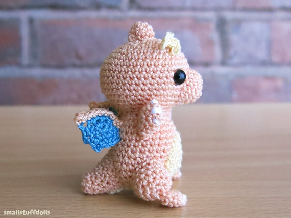 Dragonite PatternxMini Amigurumi Crochet Doll Digital Download from SmallSt...