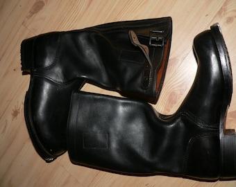 "vintage 1960s German Army Jackboots ""Knobelbecher""  Size 40 unworn"
