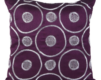 Plum Beaded Decorative Pillow Cover Beaded Plum Pillow Geometrical Embroidery Pillow Plum Pillow 14x14 16x16 18x18 20x20