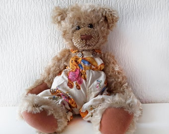 "Vintage Trousers with Braces for 15"" Teddy Bear"