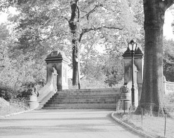 NYC Photography, New York, Photography Print, Central Park, Black White Art, New York City Photo, Wall Art Print, Decor, Bethesda Terrace,