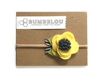 Buttercup Blossom Flower Headband or Clip
