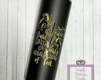 "Just & Loyal ""Hufflepuff"" Harry Potter inspired stainless steel vacuum insulated tumbler 20oz"