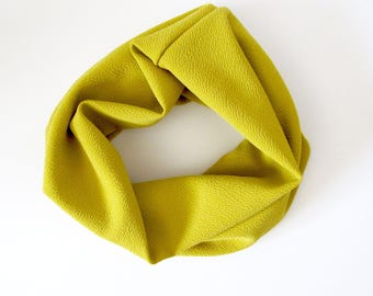 Cowl Neck Scarf || Mustard Scarf || Infinity Scarf ||  Baby Scarf || Toddler Scarf || Girls Scarf