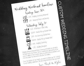 Custom Wedding Timeline