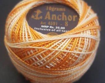 Anchor Crochet Pearl Cotton 10g – Marmalade