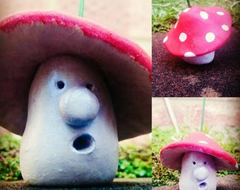 Incense holder, incense burner, Toadstool Incense Holder, toadstool ornament,toadstool house,handmade incense holder,toadstool decoration