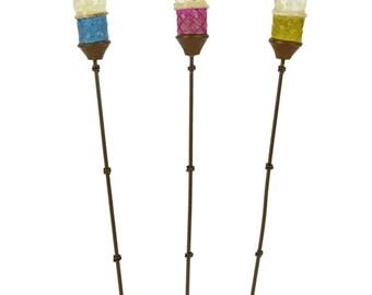 Fairy Garden  - Tiki Torches - Set of 3 - Miniature