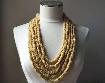 The Jessica - Hand Knit Necklace