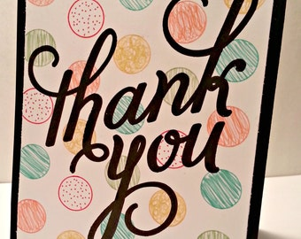 Dots Large Thank You Card