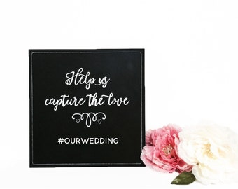 Instagram - Help us capture the love wedding sign | wedding chalkboard