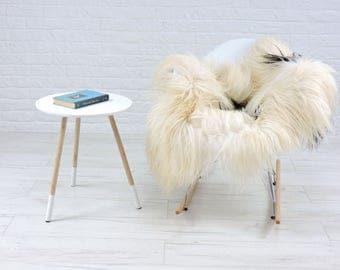 Luxury genuine Icelandic sheepskin rug natural color single 130cm x 85cm, G551