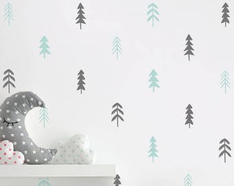 Tree Wall Decals - Multi-Colored Wall Decals, Nursery Decals, Unique Wall Decor, Woodland Decals