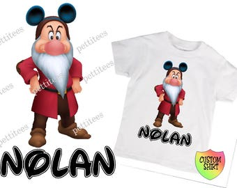 7 Dwarfs Grumpy Disney Vacation Birthday Shirt Custom Tshirt  p230