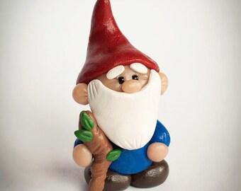 Gnome Handmade Polymer Clay Sculpture