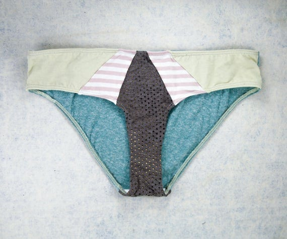 MEDIUM - ISA Hipster cut , unique, upcycle and handmade panties