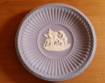 Wedgewood Blue Jasperware Miniature Round Trinket Dish