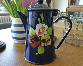 Vintage enamel coffee pot (ref 1058)