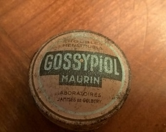 Box metal vintage of dragees GOSSYPIOL Made in France