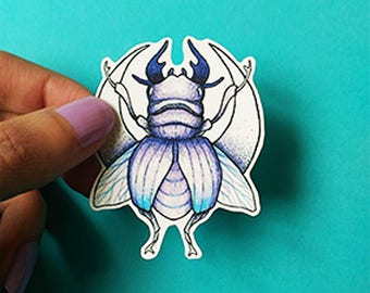 Sticker . Beetle . Insect . curiosity . moon