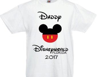 Disneyworld Florida T shirt Mummy/Daddy 2017